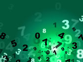 Calculate Green Represents High Tec And Count — Stock Photo