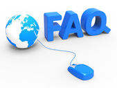 Faq Global Represents World Wide Web And Www — Foto de Stock