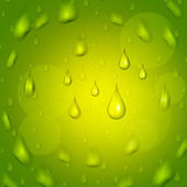 Rain Drop Represents Droplet Precipitate And Green — Stock Photo