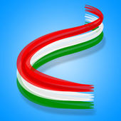 Flag Hungary Represents Patriotism National And Nationality — Stock Photo