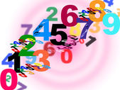 Numbers Counting Means Numeracy Numerical And Backdrop — Stock Photo