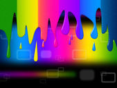 Copyspace Spectrum Indicates Color Swatch And Colour — Foto Stock