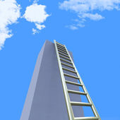 Sky Ladders Indicates Step Upwards And Raise — Stock Photo