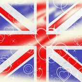 Union Jack Means United Kingdom And Britain — Stock Photo