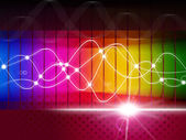 Waveform Spectrum Represents Color Guide And Abstract — Stock Photo