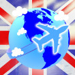Постер, плакат: Union Jack Represents English Flag And Airline