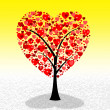 Tree Hearts Represents Valentine Day And Environment — Stock Photo #48833623
