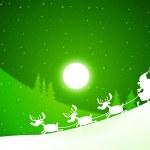Moon Santa Indicates Merry Xmas And Celebrate — Stock Photo #48836735