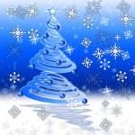 Xmas Tree Indicates Merry Christmas And Holiday — Stock Photo #48836983