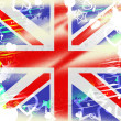 Постер, плакат: Union Jack Represents British Flag And Backdrop