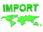 Import Global Shows Buy Abroad And Worldly — Stock Photo
