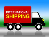 International Shipping Indicates Across The Globe And Globalisation — Stock Photo