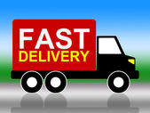 Fast Delivery Shows High Speed And Transporting — Stock Photo