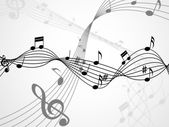 Background Notes Shows Bass Clef And Backdrop — Stockfoto