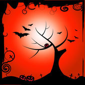 Bats Halloween Means Trick Or Treat And Autumn — Foto de Stock