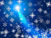 Xmas Blue Represents Ice Crystal And Celebrate — Stock Photo