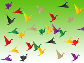 Birds Freedom Shows Break Out And Elude — Stock Photo