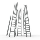 Ladder Ladders Indicates Vision Raise And Growing — Stock Photo