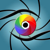 Eye Spectrum Indicates Colour Splash And Colourful — Stock Photo