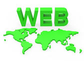 Web World Represents Globalisation Www And Website — Stock Photo