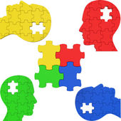 Think Puzzle Indicates Team Work And Consideration — Stock Photo