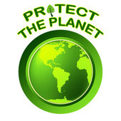 Protect World Indicates Planet Worldwide And Globalization — Stock Photo