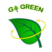 Go Green Represents Earth Day And Eco-Friendly — Stock Photo