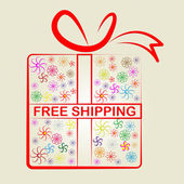 Shipping Free Represents With Our Compliments And Consumer — Stock Photo