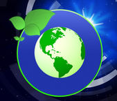 Eco Friendly Indicates Go Green And Earth — Stock Photo
