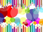 Education Pencils Indicates Multicoloured Stationery And Schooling — Stock Photo
