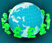 Forex Globe Represents Exchange Rate And Currency — Stock Photo