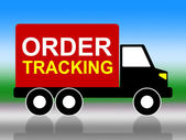 Order Tracking Indicates Logistic Delivery And Moving — 图库照片