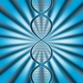 Dna Rays Indicates Genetic Code And Beam — Stock Photo
