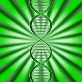 Green Dna Means Biotech Biotechnology And Gene — Stock Photo