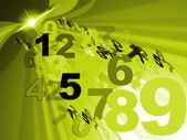 Counting Mathematics Represents Number Design And Numerical — Stock Photo