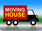 Moving House Shows Change Of Address And Delivery — Stock Photo