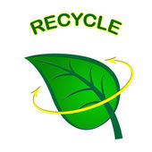 Recycle Leaf Represents Earth Friendly And Conservation — Stock Photo