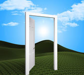 Doorway Planning Indicates Target Goals And Aspire — 图库照片