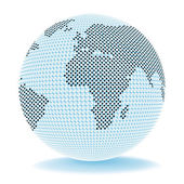 Globe Trade Shows Corporate Worldwide And Company — Stock Photo