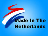 Trade Manufacturing Represents The Netherlands And Business — Stock Photo