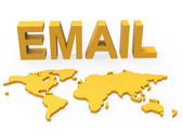 World Email Shows Send Message And Earth — 图库照片