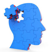 Brain Think Shows Thinking About And Reflect — Foto Stock
