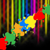 Paint Splash Means Splat Splashed And Design — Stock Photo