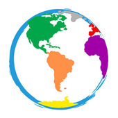 Globe World Means Globalisation Globalise And Colour — Stock Photo