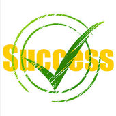 Tick Success Means Succeed Progress And Checkmark — Stock Photo