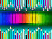 Color Pencils Indicates Colorful Schooling And Tutoring — Stock Photo