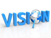 Magnifier Vision Shows Missions Plan And Target — Stock Photo
