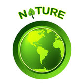 Globe Natural Shows Globalize Earth And Worldwide — Stock Photo