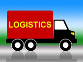 Delivery Truck Means Coordinate Courier And Organized — Zdjęcie stockowe