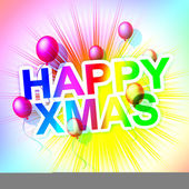 Happy Xmas Represents Merry Christmas And Celebration — Stock Photo